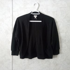 Dynamite black 1/4 sleeve open cardigan